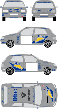 Kit DECO DIAC Clio Williams