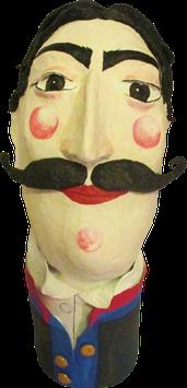 Don Julio Luciano di Leopardi, h 35cm,Pappmache
