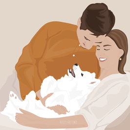 Individual Illustration - 2 Persons - PDF file