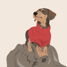Individual Illustration of your dog - PDf file
