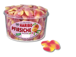 Haribo Pfirsiche  Dose à 150 Stück