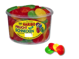 Haribo Frucht Schnecken Dose à 150 Stück