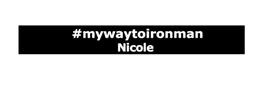 #mywaytoironman