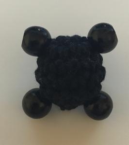 Häkelkörper - Schwarz 18mm Holzperle