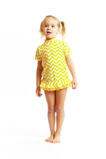 Yellow Chevron Rashguard Set