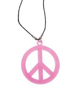 Peace - Kette pink