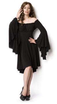 Piraten- und Mittelalterkleid schwarz