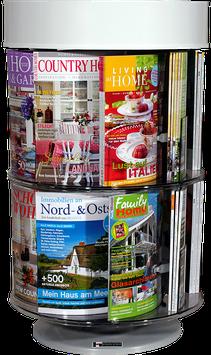 Tisch-Drehsäule  -  Magazine und Zeitschriften
