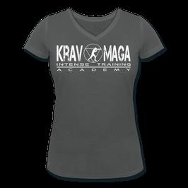 T-Shirt Damen aus Bio-Baumwolle mit V-Ausschnitt (Krav Maga Intense-Training)