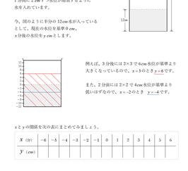 数学1-4 比例・反比例
