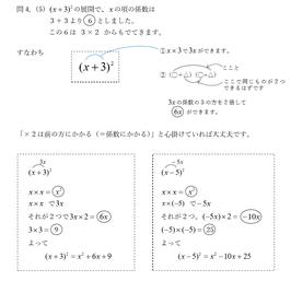 数学3-1 多項式の展開と素因数分解