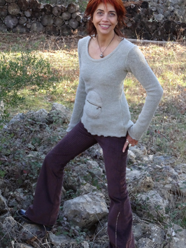 Pantalon Velours côtelé marron