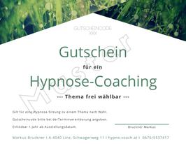 Gutschein für ein Hypnosecoaching