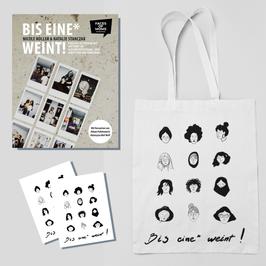 """""""Bis eine* weint!"""" - Set aus Buch, Postkarten und Tragetasche"""