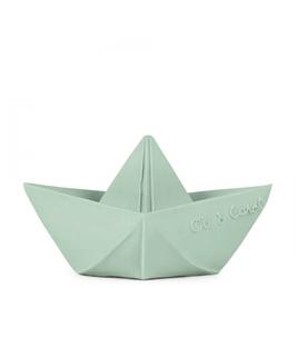 Bateau origami menthe