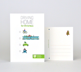 Postkarte Motiv Driving Home