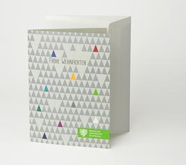 Weihnachtskarte Motiv Dreiecke