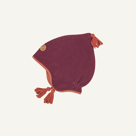Finkid PIPO Fleecezipfelmütze beet red/chili