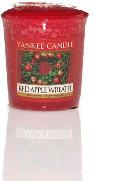 Red Apple Wreath Votive