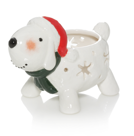 YC Tea Light Holder Snowman Dog