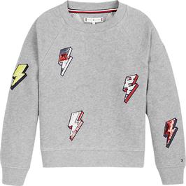 Tommy Hillfiger Pailletten-Sweatshirt aus Bio-Baumwolle