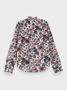 Langarm Bluse mit Blumenmuster von Scotch R'belle