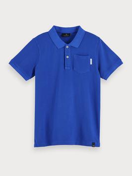 Kurzärmliges Poloshirt mit Tasche aus Baumwolle