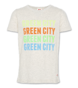 Graues AO76 T-Shirt c-neck Green City