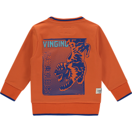 Vingino Sweatshirt mit Tiger-Motiv Orange