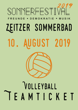 Volleyball   Teamticket (incl. Festival)