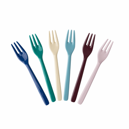 Melamine cake fork, urban colors