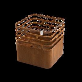 Höfats Cube rostig Feuerkorb