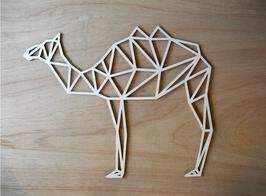 Geometrische kameel, uitgesneden