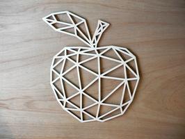 Geometrische appel, uitgesneden