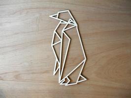 Geometrische pinguin, uitgesneden