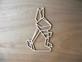 Geometrisch konijn, uitgesneden