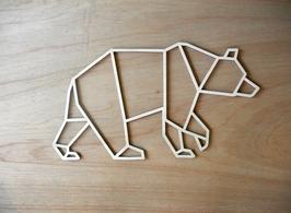 Geometrische beer, uitgesneden