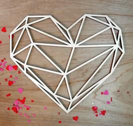 Geometrisch hart, uitgesneden