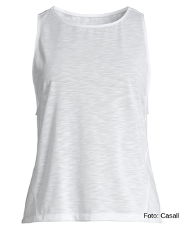 CASALL Crossways Textured Tank, white