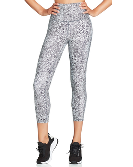 NIMBLE High Rise 7/8 Leggings, black and white pebble