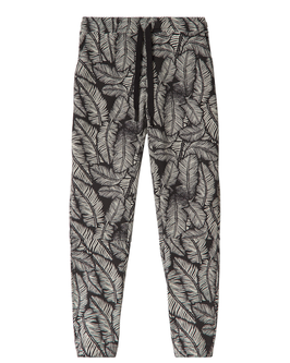 10DAYS Cropped Jogger Leaf, black