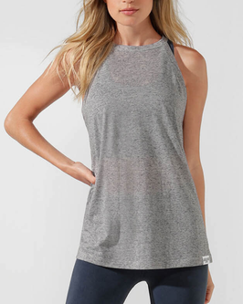 LORNA JANE Upright Tank, grey marl
