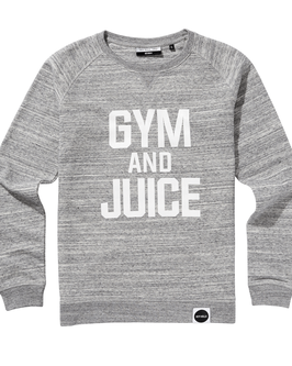 GYM and JUICE Sweatshirt - hellgrau