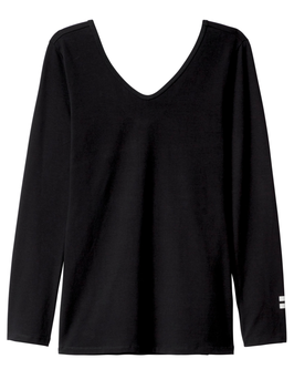 10DAYS 3/4 Sleeve-V-Neck Top, black