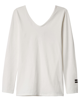 10DAYS 3/4 Sleeve-V-Neck Top, ecru