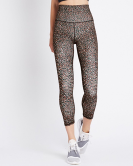 NIMBLE High Rise 7/8 Leggings, dark marsala multi spot