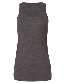 Lässiges Racerback Tank Top, anthrazit
