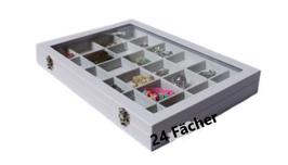 SpangenSchmuckkasten weiß 24 Fächer