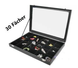 SpangenSchmuckkasten schwarz 30 Fächer