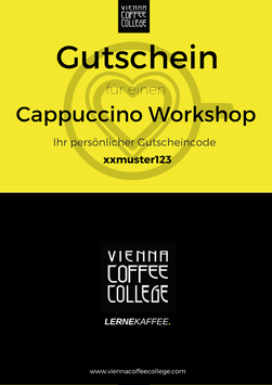 Geschenkgutschein - Cappuccino Workshop
